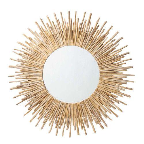 Miroir rond en bois flotté D 110 cm KAMPAR