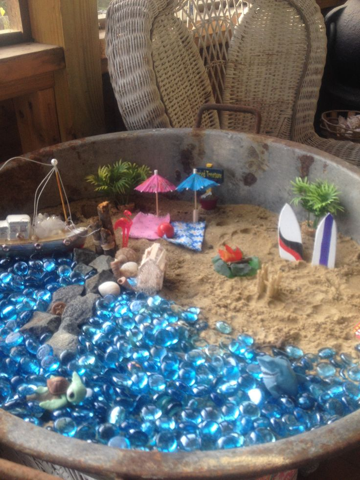 My Beach Themed Fairy Garden Beach Fairy Garden Fairy
