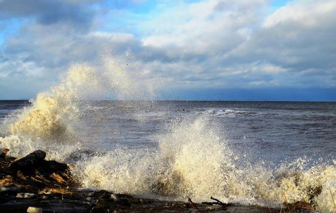 Une mer agitée, by Jacqueline Bellemare, Petit-Rocher, NB