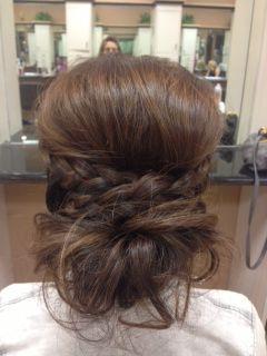 Bump, braid & messy bun. Love it!!