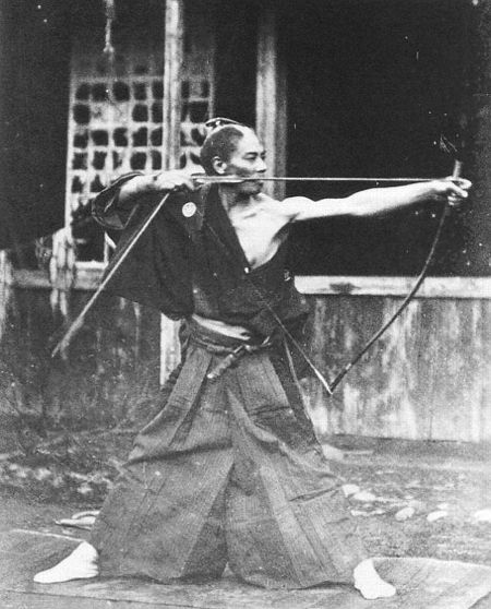 Samurai with yumi (bow).
