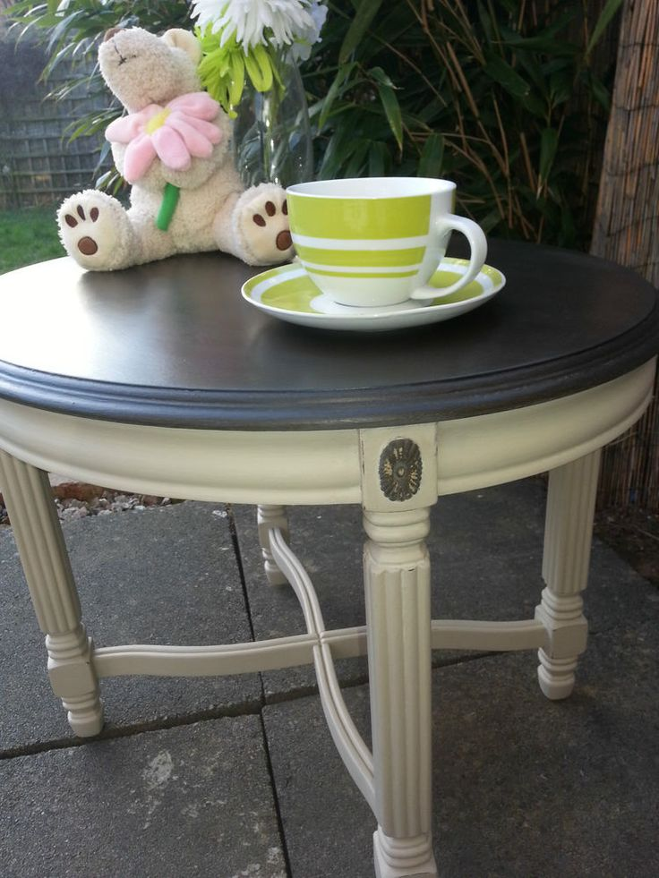 SHABBY CHIC ELEGANT FRENCH STYLE COFFEE TABLE - Annie Sloan. Country Grey & Graphite