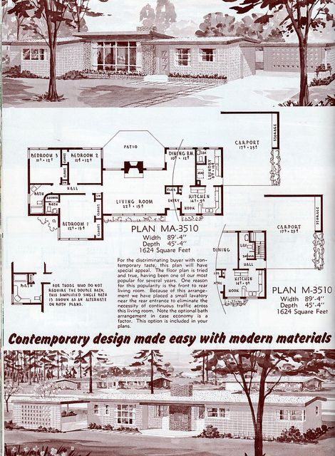 153 best images about the suburbs on pinterest for Atomic ranch floor plans