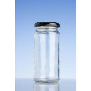 250ml food tall twist jar and black twist cap