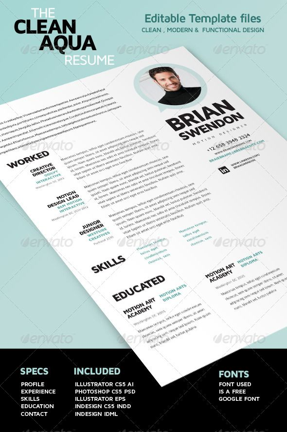 Mer enn 25 bra ideer om Simple resume template på Pinterest - simple resumes