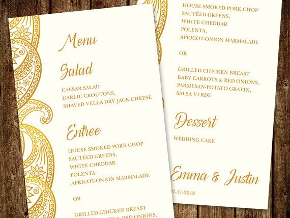 "28 Best Indian Wedding Invitation Templates ""Paisley"