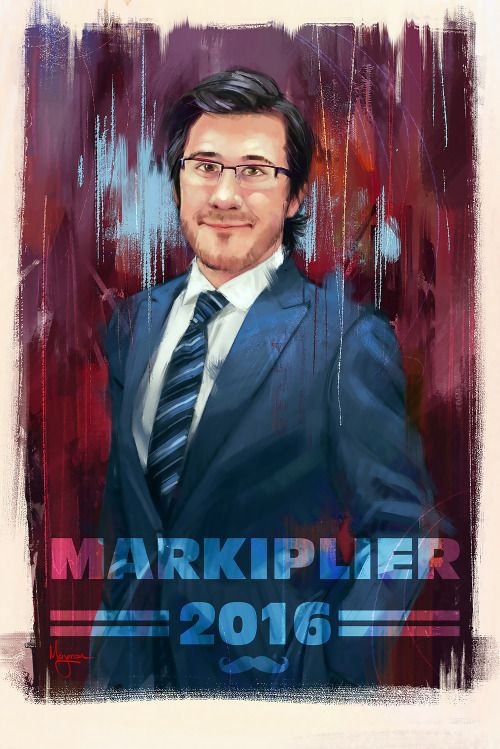 """mmarjoram:  Poster study of my favorite youtuber.""""I believe in you, and I know you can believe in yourself"""" - Mark  WOW!"""