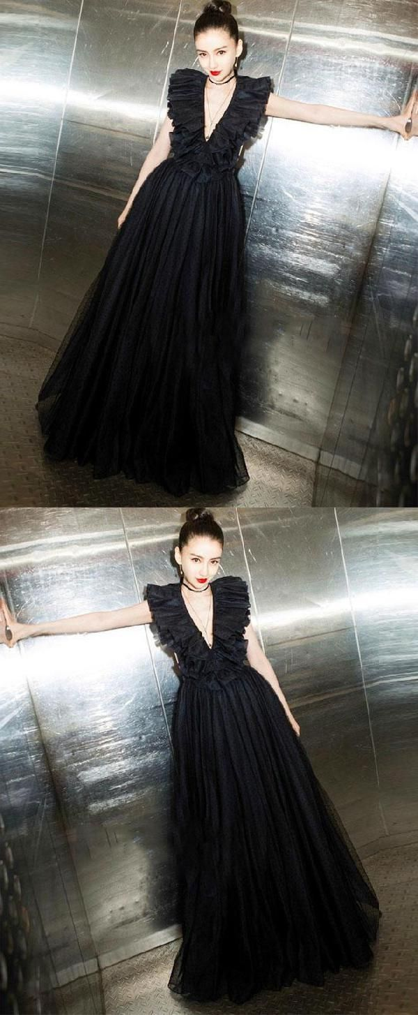 Customized excellent black prom dresses long prom dresses prom