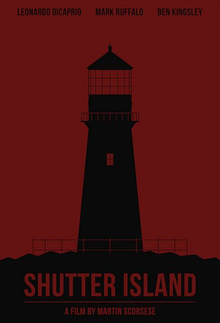 Shutter Island (2010) ~ Minimal Movie Poster by Polar Designs #amusementphile