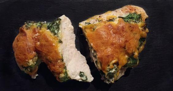 Hasselback kylling med spinat og flødeost via http://carrotstick.dk