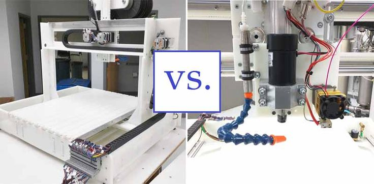 Know the advantages and disadvantages of uses between CNC manufacturing and 3D printers.