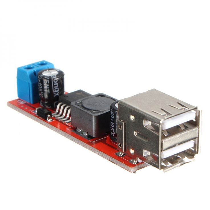 1PC Dual USB Output <b>DC</b>-<b>DC</b> 9V/<b>12V</b>/<b>24V</b>/36V to 5V 3A Step Down ...