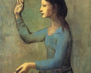 Woman with a Fan - Pablo Picasso