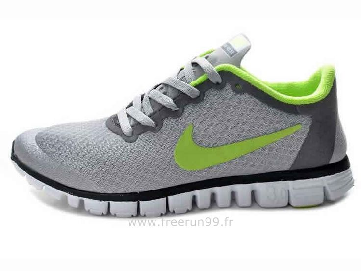 Nike Free 3.0 V3 Chaussures Homme Vert Gris Nike Free 3.0