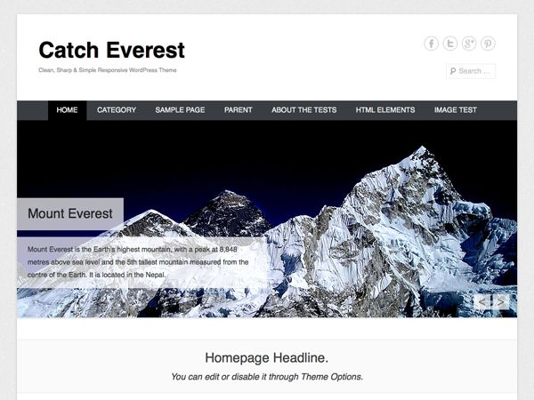 WordPress › Catch Everest « Free WordPress Themes