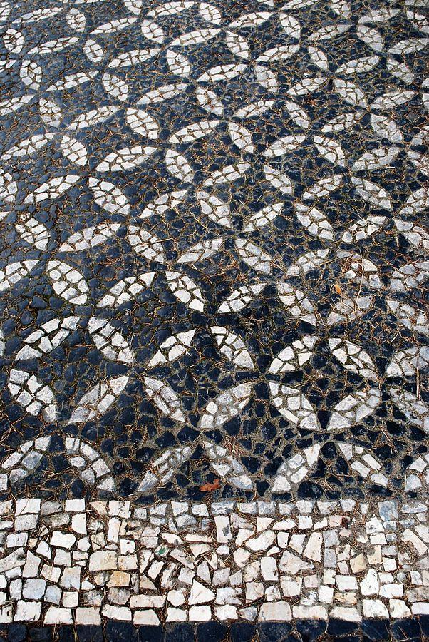 Portuguese Art | Portuguese Sidewalk Pavement Photograph