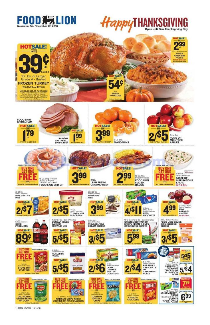Food lion weekly ad november 14 22 2018 do you know