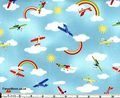 Make curtains with this?   Fly Away, Michael Miller Children's Cotton Fabric