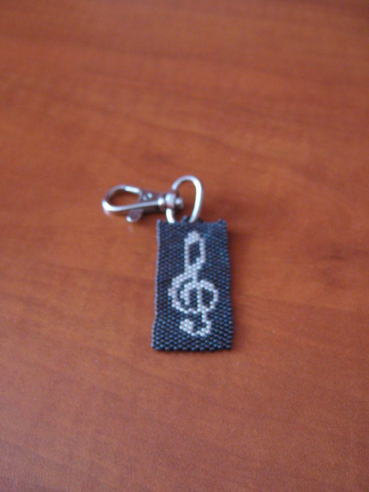 Peyote violinkulcs kulcstartó