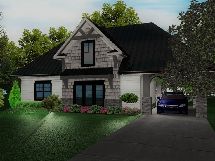 049g 0003 Craftsman Carriage House Plan With 2 Car Garage And Carport Craftsman House Plans Carriage House Plans Craftsman Style House Plans