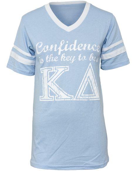 Kappa Delta Confidence Athletic V-Neck, LOVE!: Image Shirts, 2015 Kappadelta, Brighter Color, T Shirts, Kappa Delta Shirts, Butler Shirt, Shirts 2012, Be Awesome, Awesome Stuff