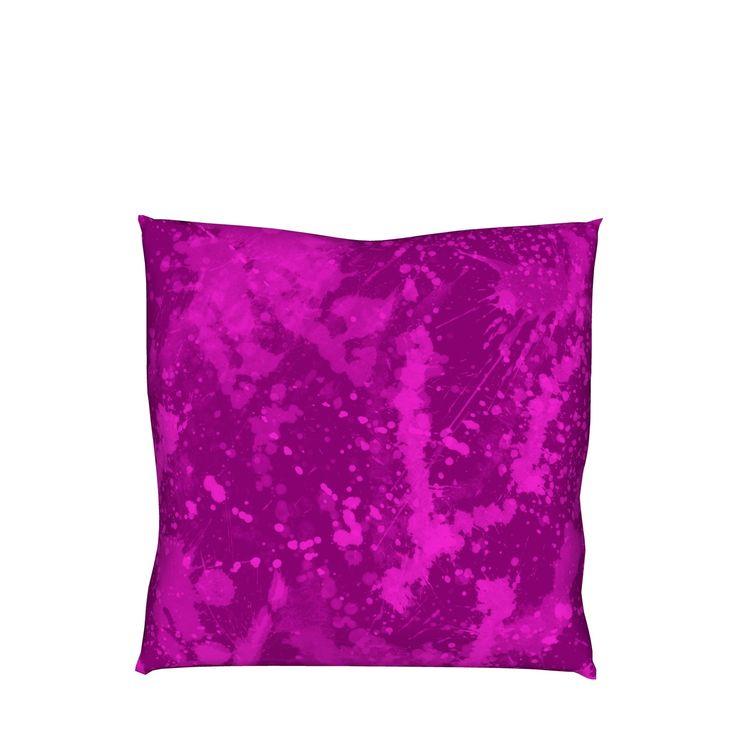 スプラッシュペイントのグラフィックのクッションです。/『スプラッシュペイント グラフィック クッション ピンク』 - 7th Spirits
