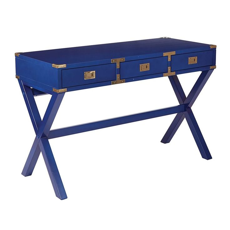 Lowest price online on all Office Star OSP Designs Home Office Desk in Lapis Blue - WEL4630-LP