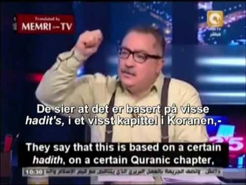 Egyptisk TV vert forteller at ISIS bare følger Koranen. Norsktekstet