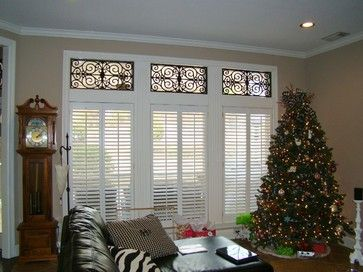 Roman Shades with faux iron in Southlake, TX - traditional - Roman Shades - Dallas - Avenue Window Fashions