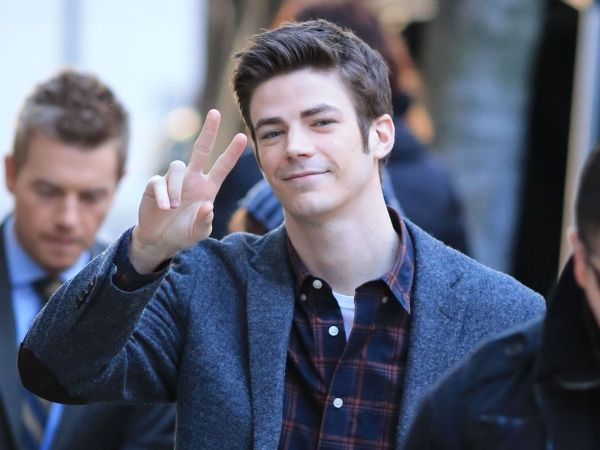 Grant Gustin & Rick Cosnett Film 'The Flash' In Vancouver Photos
