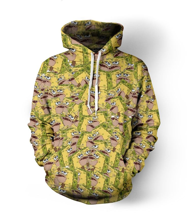 Wearyourface proudly presents the classic caveman spongebob meme you know and love brought to you in sweater format. This all-over-print hoodie is a #mustbuy. This is a made to order product, using pr