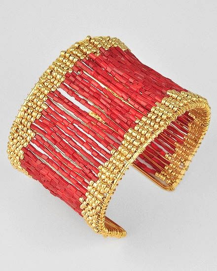 Multi-Strand Seed Bead Bracelet at Guess