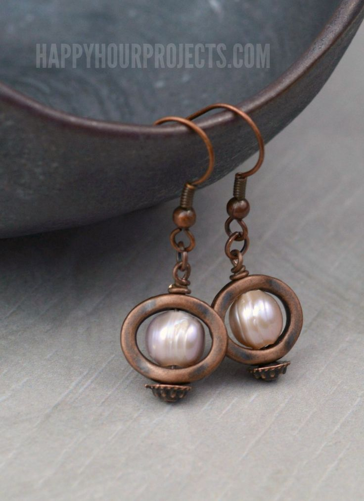 311 best 30 minute jewelry crafts images on pinterest jewelry copper and pearl diy earrings happy hour projects solutioingenieria Images