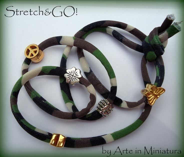 Stretch by Art in Miniature  Customized Bracelets Summer 2013  Camouflage