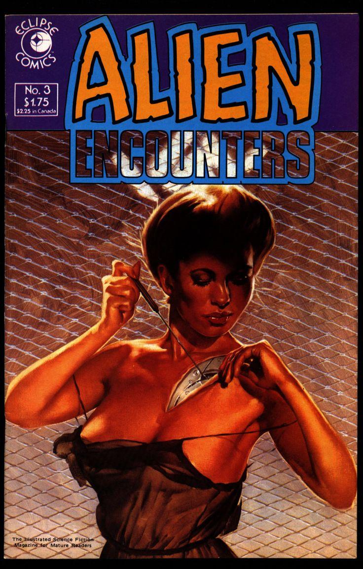 ALIEN ENCOUNTERS #3 Mark Borax Larry Elmore Jim Baikie Attilio Micheluzzu eclipse Comics Science Fiction