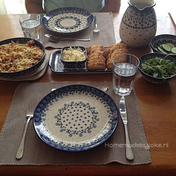 ... #polishblue #Bunzlauservies #kitchen #textile #coffee #tea #teatime #dinner #blue #Handpainted #Polish #tableware Diner voor twee met Bunzlau ;-) & 354 best Polish Pottery - Boleslawiec etc. images on Pinterest ...