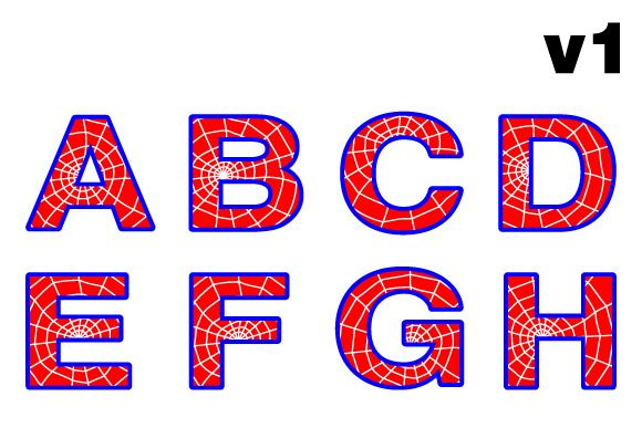 Spider web letters ~ Illustrations on Creative Market