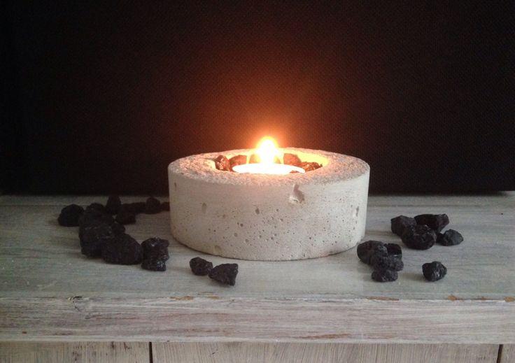 Beton Candlestick Teelichthalter minimalistic Design von BetonDesignGER auf Etsy