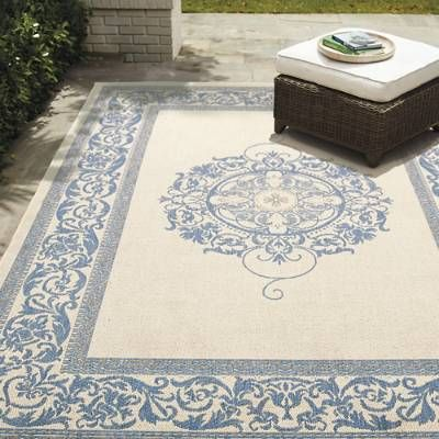Our Medallion Outdoor Rug is constructed to withstand the ravages of Mother Nature while providing the comfort and beauty of a high-end indoor floor covering. The synthetic fiber we've used to create this beautiful furnishing gives it an ideal blend of properties which maximizes its lifespan while minimizing care. Displays an attractive scrollwork mandala patternMade of 100 fine-spun polypropyleneRug pattern varies by sizeWon't rot like ordinary jute rugsOutdoor rug is mold…