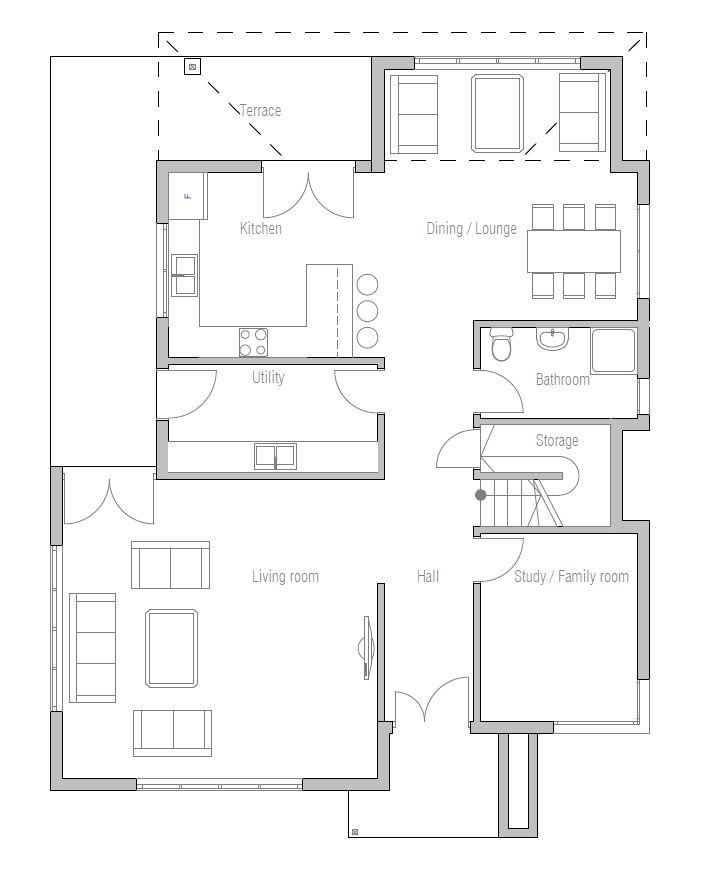 Affordable Modern House Plans Modern House Plan Ch171 With Affordable Building Budget