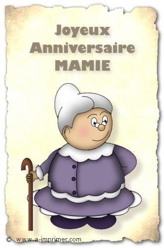 Joyeux Anniversaire Mamie Birthday Birthday