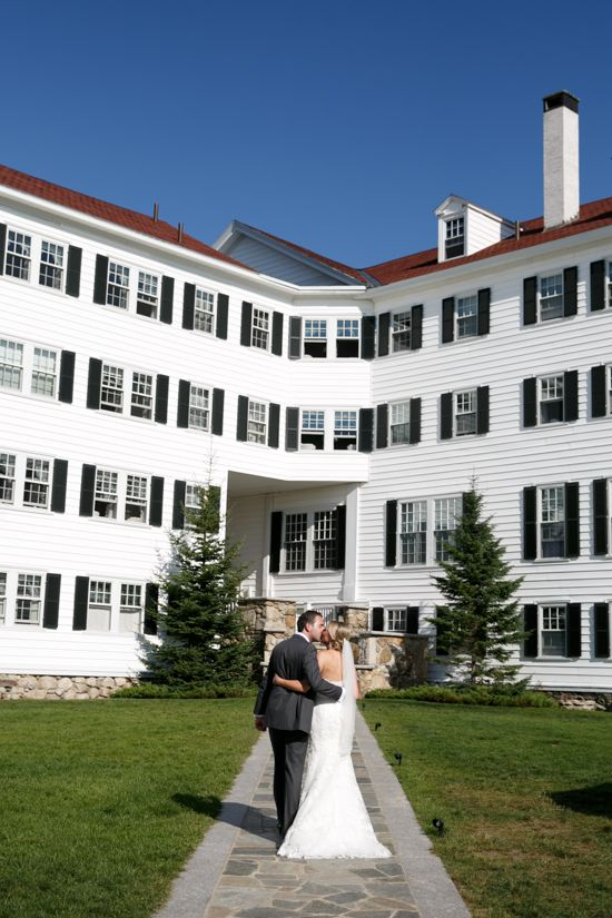 This Bride And Groom Grab A Kiss As They Recess From Their Wedding Ceremony At The Kennebunkport Mainehotels