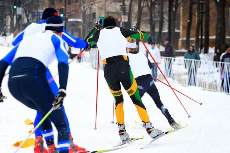 Join a cross country ski race