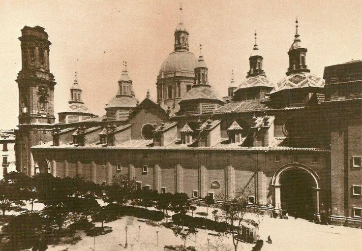 Foto de la basilica del pilar en construcci n de la - Construccion zaragoza ...