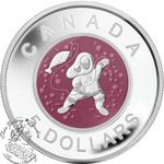 SALE! Canada: $5 Mother and Baby Ice Fishing Coin 2013