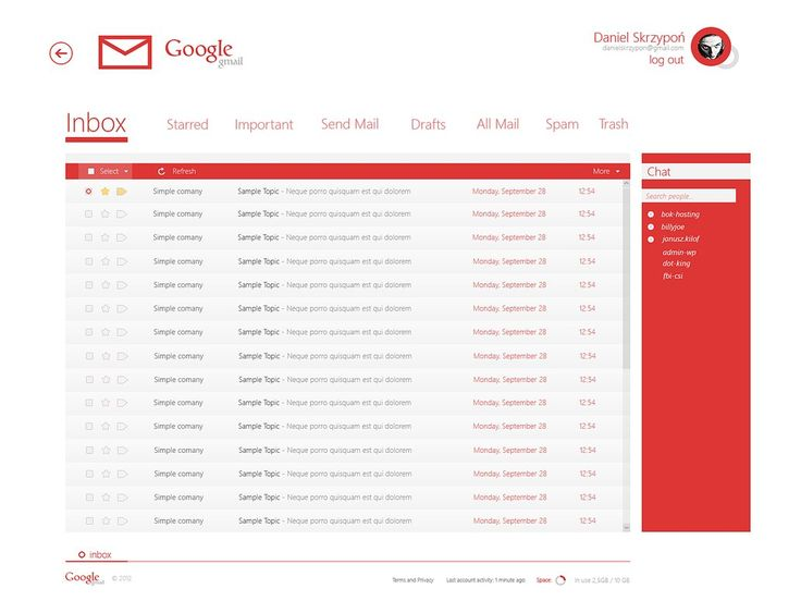 gmail [Modern UI] project concept by danielskrzypon.deviantart.com on @DeviantArt