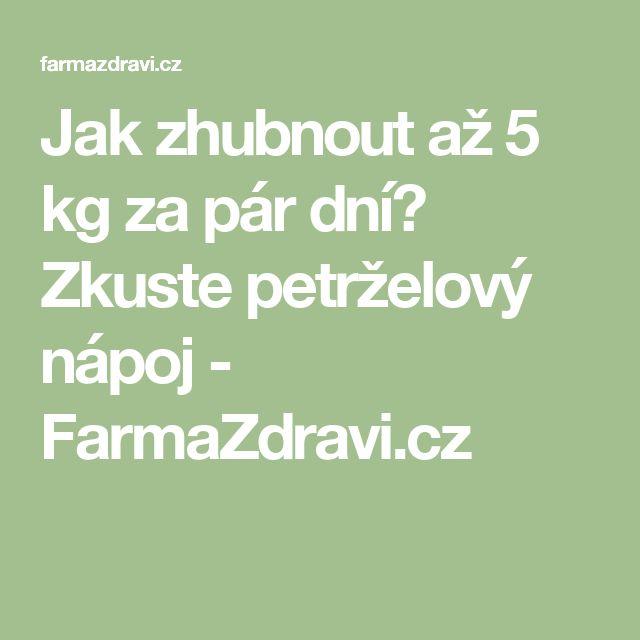 Jak zhubnout až 5 kg za pár dní? Zkuste petrželový nápoj - FarmaZdravi.cz