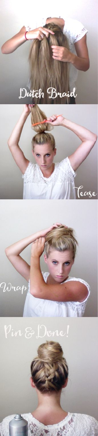 The easiest tutorial and products to use for any top bun style! Tutorials found here!