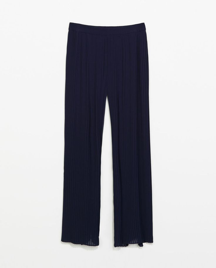 PLEATED BELL BOTTOM TROUSERS from Zara