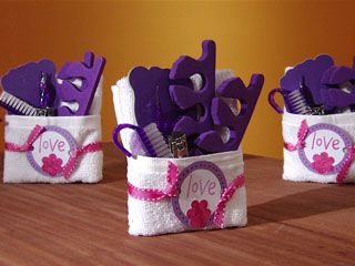 Muy bueno como souvenirs de cumpleaños o un detalle como regalo  Good for a birthday treat to your guests or just a little gift  :)   Manualidades y Artesanías | Set para baño | Utilisima.com